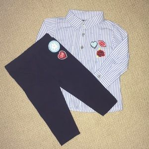 Button up and pants set (18mo)